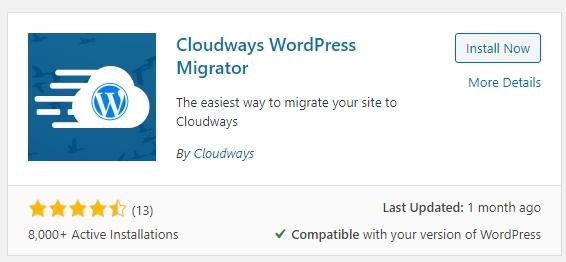 Cloudways搬家外掛